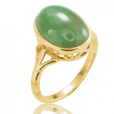 Ring 9ct 1614 Green Jadeite