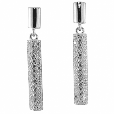 Ladies Shipton and Co Silver and Cubic Zirconia Earrings TEN031CZ