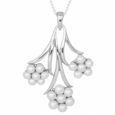 Silver Stems Clustered with Hand-Picked Pearls