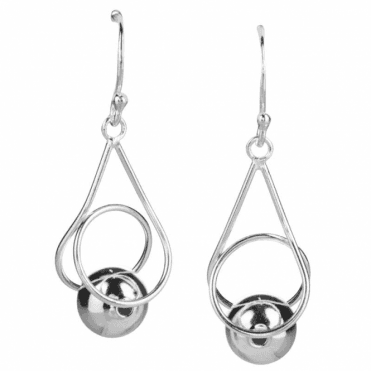 Ladies Shipton and Co Silver Swirl Drop Earrings TFE121NS