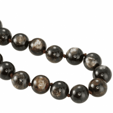 Ladies Shipton and Co Silver and Mica Bead Necklace BKC025MC