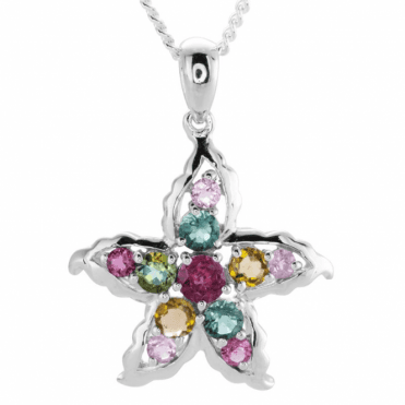 Ladies Shipton and Co Silver and 1.25ct Tourmaline Pendant including a 16 Silver Chain TFE084TT