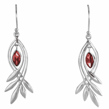 Silver Feathers Embrace 1¼cts of Swaying Garnets Only £37.50