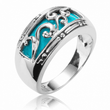 Turquoise Ring Overlaid with Silver