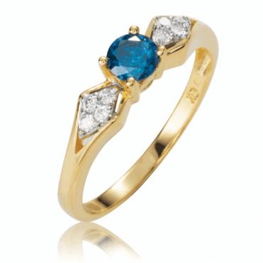 Diamond Setting for one Prestigious Blue Diamond