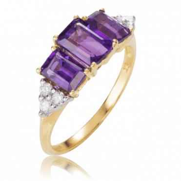 Supreme Quality African Amethysts & Diamonds
