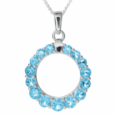 5cts Perfect Circle of Dazzling Blue Topaz