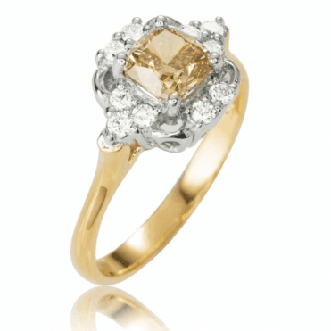 Ladies Shipton and Co Exclusive 18ct Yellow Gold and 1.25ct Champagne Diamond Ring S08777DI