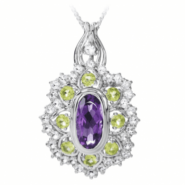 Suffragette Pendant of Demonstrable 10½ct Jewelled Colour
