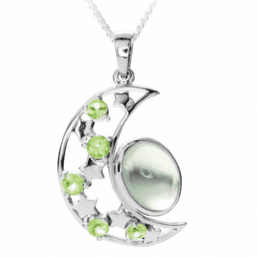 Ladies Shipton and Co Exclusive Silver and 6.25ct Moonstone Pendant including a 16 Silver Chain PQA537MSPE