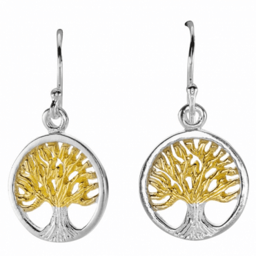 Ladies Shipton and Co Silver Tree of Life Earrings TFE152NS
