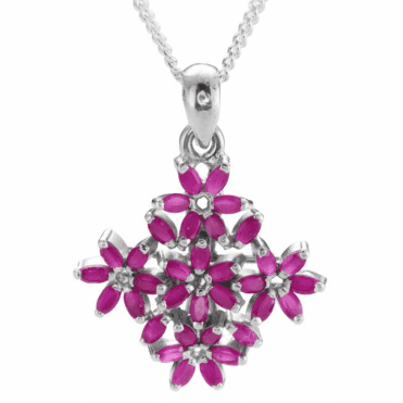 6½ct Ruby Flower Pendant Only £40