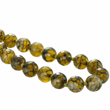 Ladies Shipton and Co Silver and Orinoco Agate Bead Necklace BVL029AG
