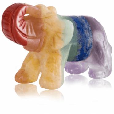 Elephant of 7 Chakra Gemstones