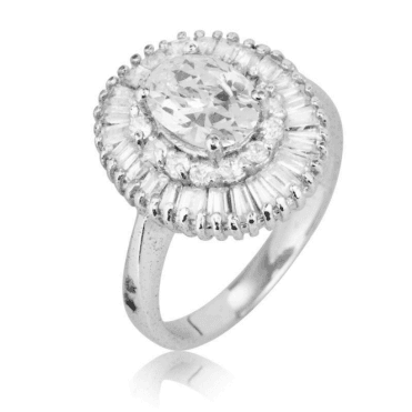 Ladies Shipton and Co Silver and 5ct Cubic Zirconia Ring TAO006CZ