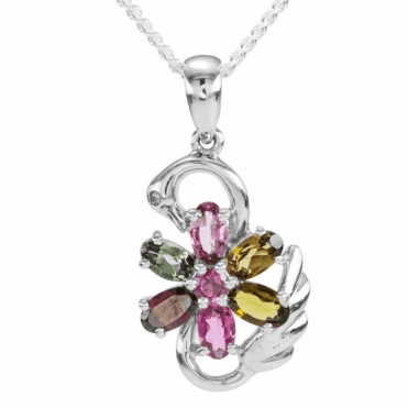 Ladies Shipton and Co Silver and 2ct Tourmaline Pendant including a 16 Silver Chain TFE085TT