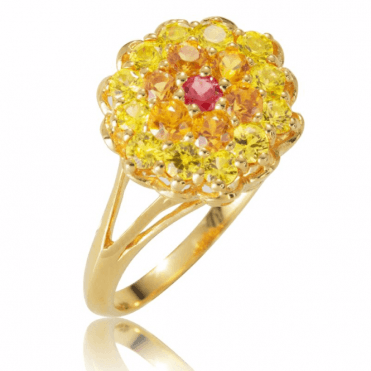 1½cts of Fancy Sapphires in Bright Sunshine Colours