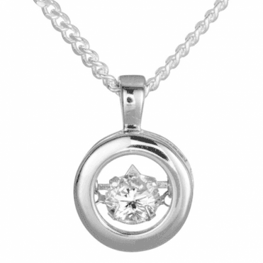Ladies Shipton and Co Silver and Cubic Zirconia Pendant including a 16 Silver Chain TFE170CZ