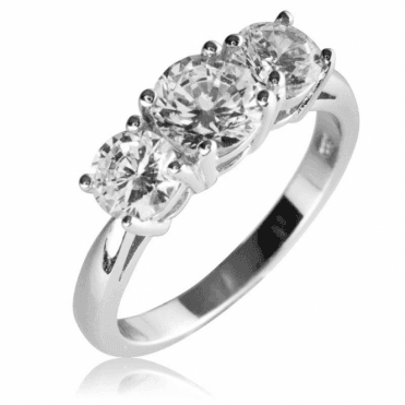 Ladies Shipton and Co Silver and Cubic Zirconia Ring TAO009CZ