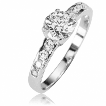 Ladies Shipton and Co Silver and 1ct Cubic Zirconia Ring TAO024CZ