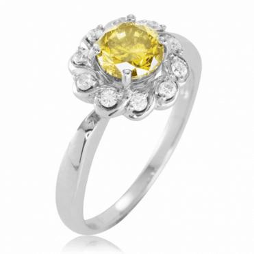 Over a Carat of Prestigious Canary Diamond