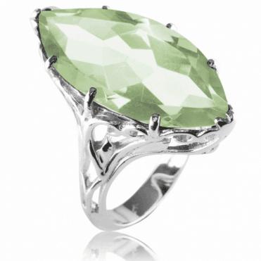 Glamorous 21ct Green Amethyst Ring