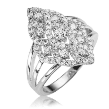 Ladies Shipton and Co Silver and Cubic Zirconia Pave Ring TAO021CZ