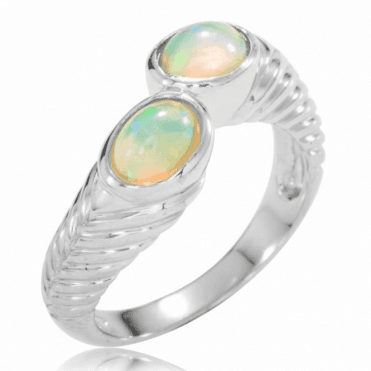 A 1.2ct Embrace of Perfectly Matched Opals