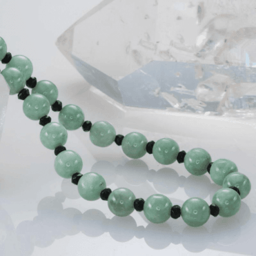 Ladies Shipton and Co Silver and Green Jade & Jadeite Beads TEN050GJSL