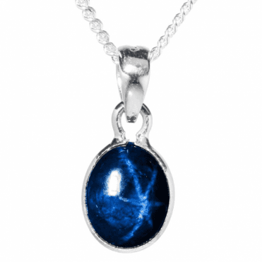 Ladies Shipton and Co Silver and 4.5ct Star Sapphire Pendant including a 16 Silver Chain TMZ008AS