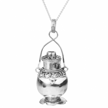 Silver & Garnet Keepsake Pendant