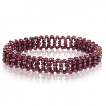 Ladies Shipton and Co Silver and 80ct Garnet Bead Bracelet BVL031GR