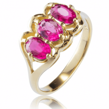Ladies Shipton and Co Exclusive 9ct Yellow Gold and Ruby Ring RYG071RU