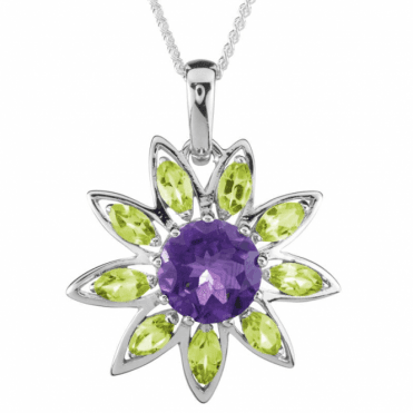 Impressively Sized Pendant with nearly 6cts of Gems