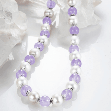 Ladies Shipton and Co Silver and Amethyst Beads TEN061AMFP