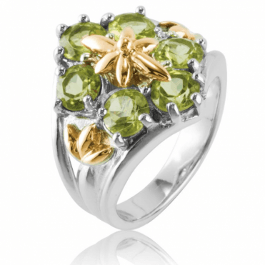 Ladies Shipton and Co Silver and Peridot Ring RQF009PE