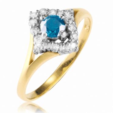A ½ct Dream Ring of Blue & White Diamonds