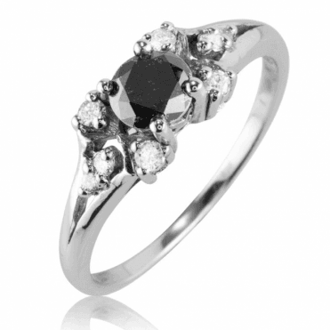 Ladies Shipton and Co Exclusive 9ct White Gold and Diamond Ring RWD152DI