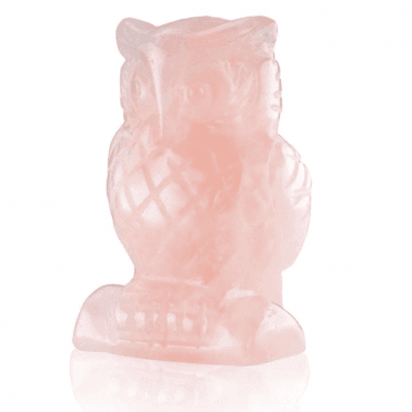 Ladies Shipton and Co Rose Quartz Owl Carving CWT024RQ
