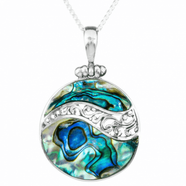 Irresistible Value Silver & Paua Pendant Only £40