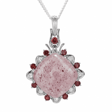 Ladies Shipton and Co Exclusive Silver and Sunstone Pendant including a 16 Silver Chain PQA574SSGR
