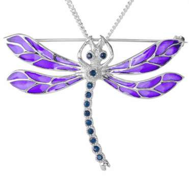Sizeable 1ct Sapphire Dragonfly to Wear Two Ways