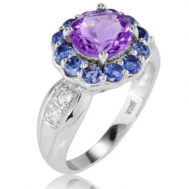 Ladies Shipton and Co Silver and Amethyst Ring RQA552AMIO