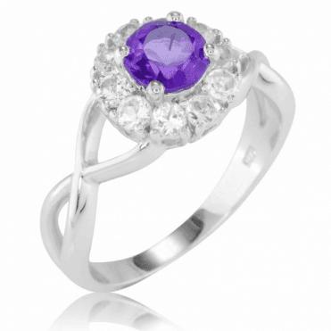 Eternity Amethyst Ring
