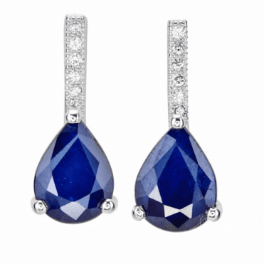 21/4cts of Sapphire Lit by White Topaz