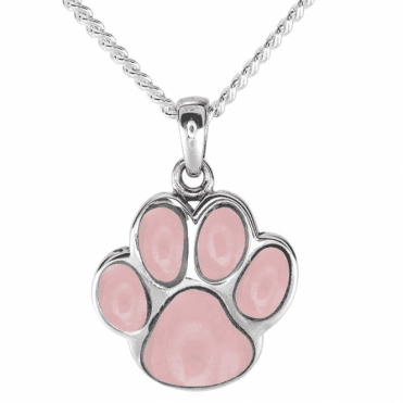 Ladies Shipton and Co Silver and Opal Paw Pendant including a 16 Silver Chain TSV060OP