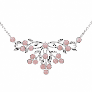 3½cts of Hand-Matched Pink Opals in Silver Splendour