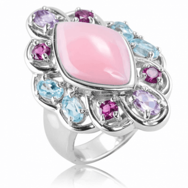 Ladies Shipton and Co Silver and Opal Ring TSV054OPMU