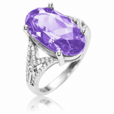 Ladies Shipton and Co Silver and Cubic Zirconia Ring TAO038CZ