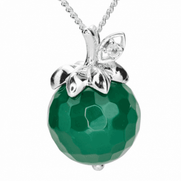 Green Agate Apple Pendant